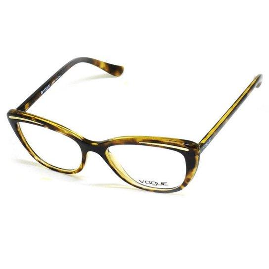 47a498c5d Armação De Óculos De Grau Vogue 5218-L T 52 C Feminino Tartaruga - Marrom