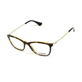4a0243d03 Armação De Óculos De Grau Vogue 5219-L T 51 C Tartaruga Feminino