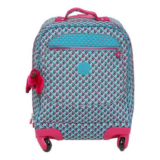 a24c01413 Mochila Kipling Licia Feminina - Azul Turquesa+Pink