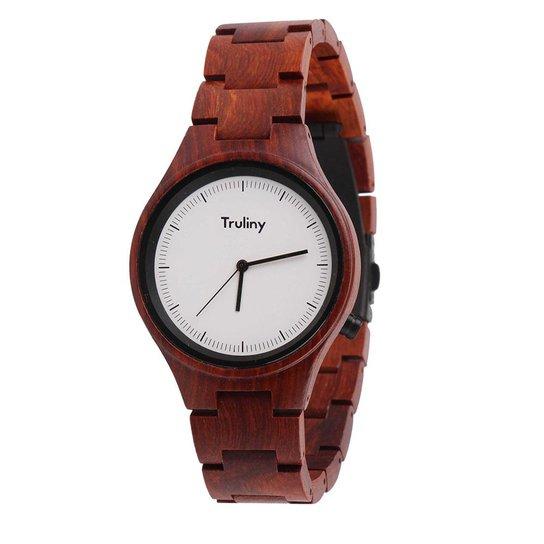 763a173e25c Relógio Masculino Truliny de Madeira Falcon - Marrom - Compre Agora ...
