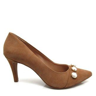 0bce30a829 Sapato Scarpin Salto Fino Santa Flor Couro