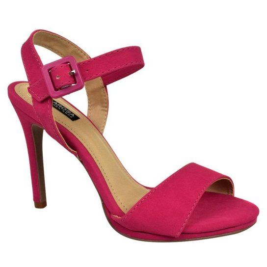 5b7b67d79c Sandália Villa Rosa Salto Fino Feminina - Pink - Compre Agora