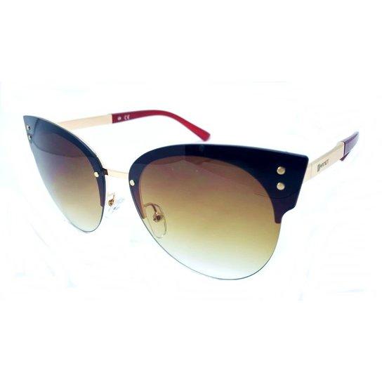 14edb0b9f Óculos De Sol Fashionista Polarizado Degradê Feminino - Marrom   Zattini