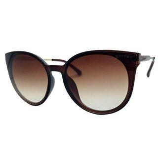18b95a690 Óculos De Sol Round Acetato Garnet Feminino