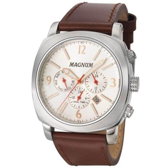 7fa5eef20fb Relógio Masculino Magnum Business Ma34512q - Marrom - Compre Agora ...