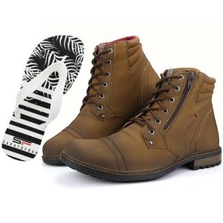269ac1ae5 Bota Sapato Fran Coturno Cano Baixo Masculina