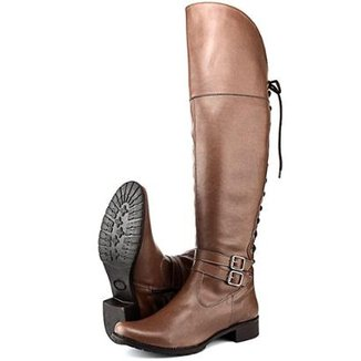 579a54193 Bota Montaria Over The Knee SapatoFran Whisky com Amarras Feminina