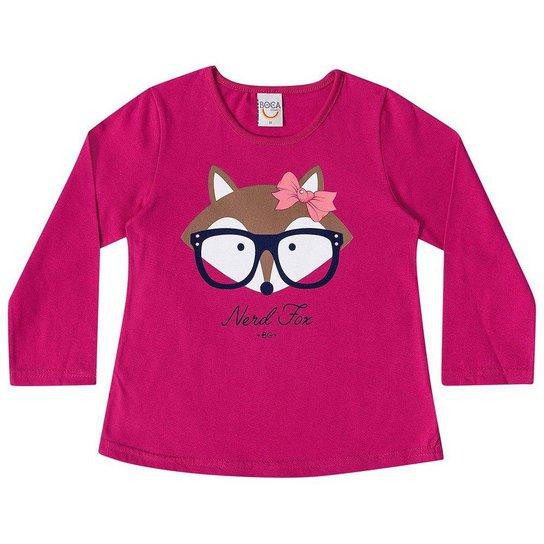 Camiseta Manga Longa Boca Grande Fox em Meia Malha Feminina - Compre ... 5968e629ad2ab