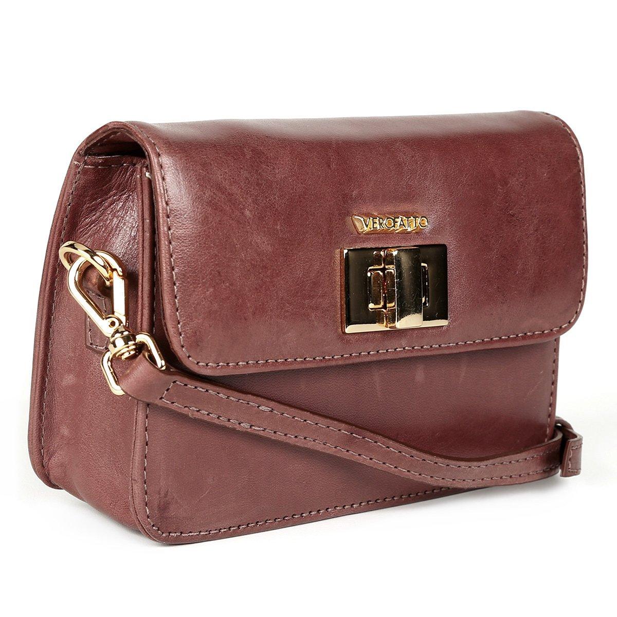 c68c918ba Bolsa Couro Verofatto Mini Bag Transversal Feminina   Livelo -Sua Vida com  Mais Recompensas