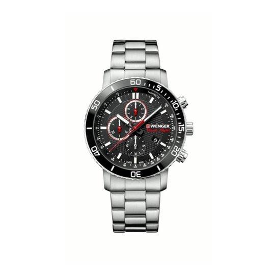 1c7fbde7e8e Relógio Wenger Roadster Black Night - Preto e Prata - Compre Agora ...