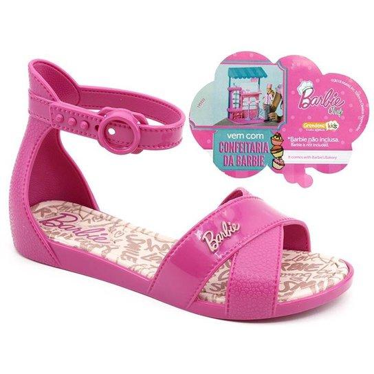 66c92d5264 Sandália Infantil Grendene Barbie Confeitaria Brinde Feminina - Pink ...