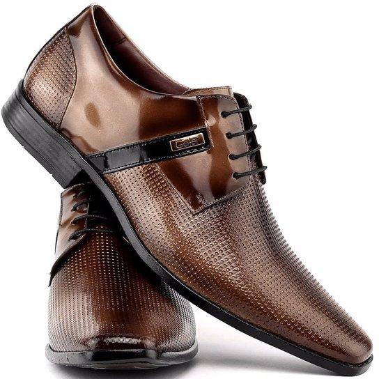 782e3f7529 Sapato Social Gofer Com Cadarço Em Couro Legítimo Masculino - Marrom ...