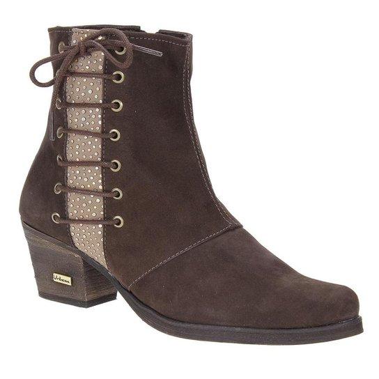f2fcf2aae84 Bota Couro Cano Curto Urbana Boots Feminina - Marrom - Compre Agora ...