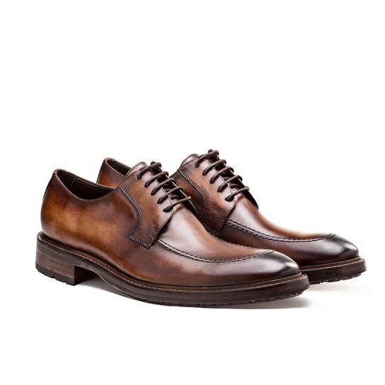 ef0b6523f Sapato Casual Brogan Derby Memphis Masculino - Marrom - Compre Agora ...