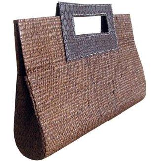 Bolsa Carteira de Mão em Palha de Buriti 878833a8f98