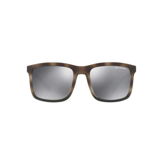 463a7117d142e Óculos de Sol Armani Exchange Quadrado AX4067S Masculino - Marrom ...