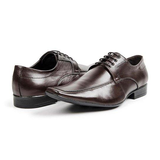23e4d02f71 Sapato Social Masculino em Couro Com Bico Fino Estilo Italiano Bigioni -  Marrom