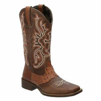 f6a3427b72 Bota Country Texana Francalce Feminina Cano Médio