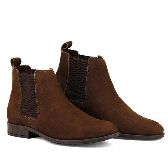 8ded9881d Bota Chelsea Masculina Linha Urban Boots Em Couro Camurça - Marrom ...