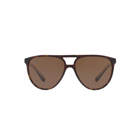 f1cc07b515cca Óculos de Sol Burberry Piloto BE4254 Masculino - Marrom - Compre ...