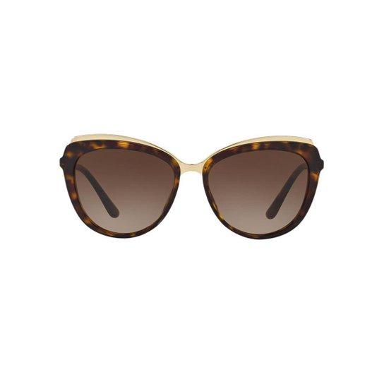 fdf1fab7aec92 Óculos de Sol Dolce   Gabbana Gatinho DG4304 Feminino - Marrom ...