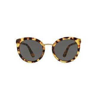 cb9f20f1e90f9 Óculos de Sol Dolce   Gabbana Redondo DG4268 Feminino