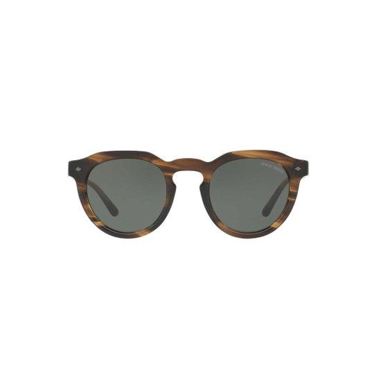 7d7758701 Óculos de Sol Giorgio Armani Redondo AR8093 Masculino - Marrom | Zattini