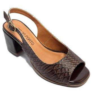 66b1019dc4 Sandálias Cia do Porto Feminino Marrom - Calçados