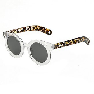 2e8f7c6d851a7 Óculos de Sol Marielas Transparente Tartaruga Feminino