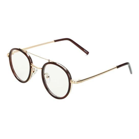64cbcb003 Armação Para Óculos De Grau Marielas Transparente RM0246 Feminino - Marrom