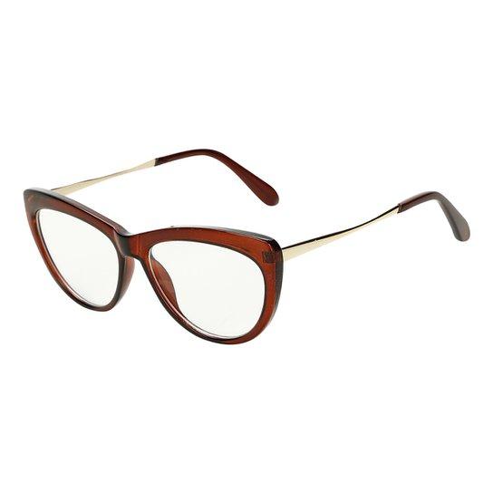 334c9c20c Armação Óculos Marielas Clara Transparente RM0341 Feminino - Marrom ...