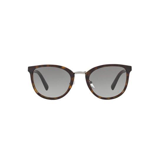 af2ee36add76e Óculos de Sol Prada Redondo PR 22SS Masculino - Marrom - Compre ...