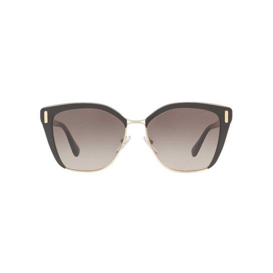 697a1cf9ed990 Óculos de Sol Prada Quadrado PR 56TS Feminino - Marrom - Compre ...