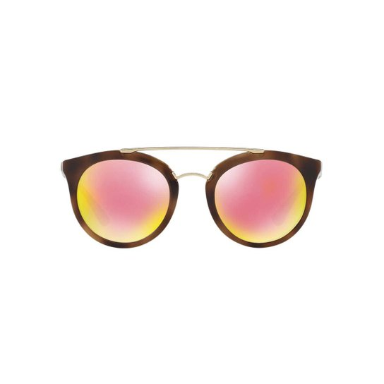 ce183fec9 Óculos de Sol Prada Redondo PR Cinema - Marrom - Compre Agora | Zattini