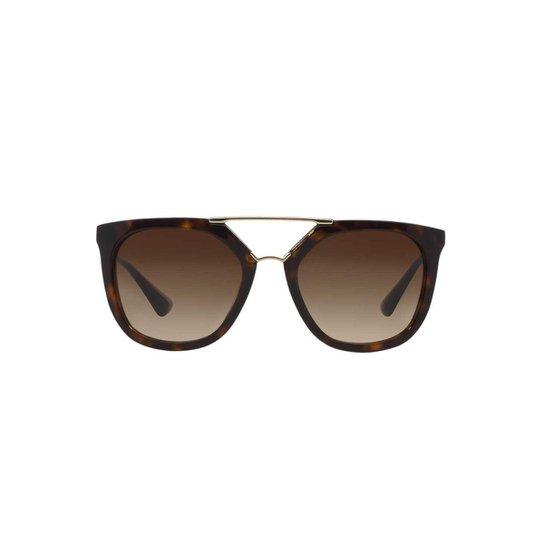 Óculos de Sol Prada Irregular - Marrom - Compre Agora   Zattini 34fb66f29e