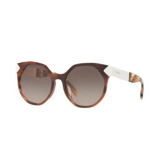 428763fcfe4a1 Óculos de Sol Prada PR 11TS - Marrom - Compre Agora   Zattini