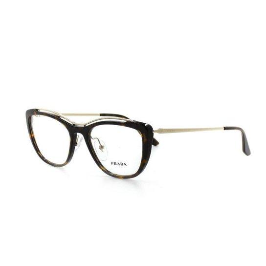 c20cea629 Armação De Óculos De Grau Prada 04V T 53 C 2Au1O1 Feminino - Marrom ...