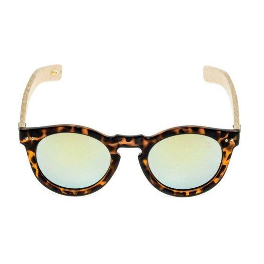 5e0ac02dc7f1b Óculos de Sol Khatto Round Bamboo - Marrom - Compre Agora   Zattini