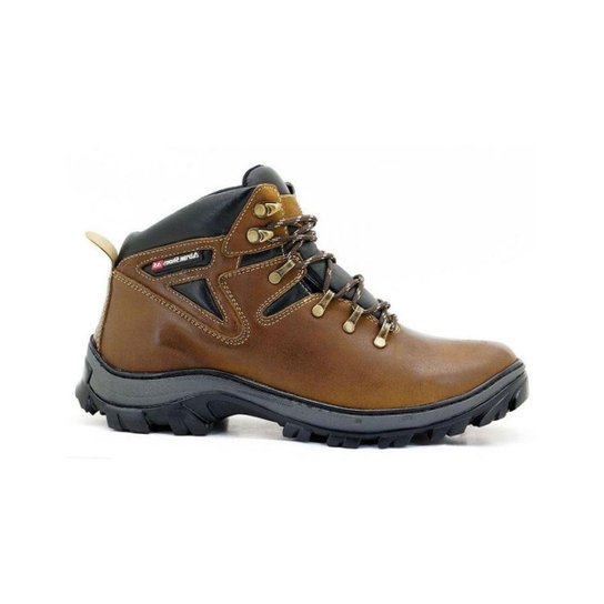 4b6002b382 Bota Coturno Adventure Atron Shoes Trilha Masculino - Marrom