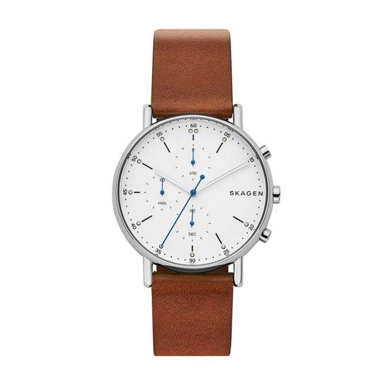 39a3ab3c16fd9 Relógio Skagen Masculino Signatur - SKW6462 0MN SKW6462 0MN - Marrom ...