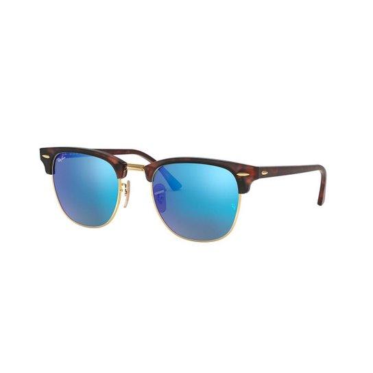 9014e0e88bcbb Óculos de Sol Ray-Ban RB3016 Clubmaster Color Mix - Marrom - Compre ...