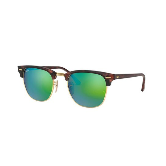 fd64239f6b6a8 Óculos de Sol Ray-Ban RB3016 Clubmaster - Marrom - Compre Agora ...