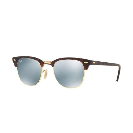 19e0a94ea661d Óculos de Sol Ray-Ban Clubmaster Feminino - Marrom - Compre Agora ...