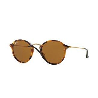 Óculos de Sol Ray-Ban Round Fleck RB2447 Tartaruga 3552cbbf8f