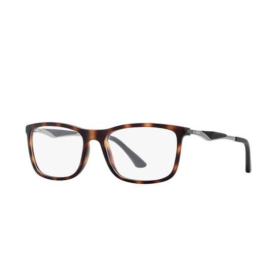 724daa59c4448 Armação de Óculos Ray-Ban RB7029 - Marrom - Compre Agora