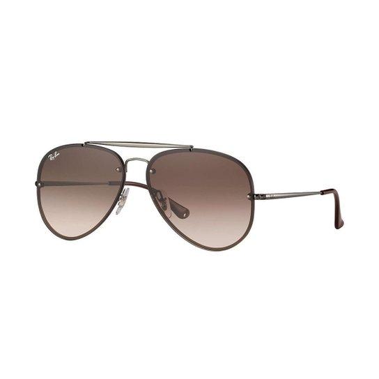 Óculos de Sol Ray-Ban Blaze Aviator Feminino - Marrom - Compre Agora ... b65b323c52