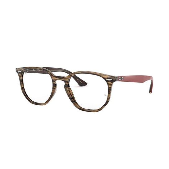 Armação de Óculos Ray-Ban Hexagonal Feminina - Marrom - Compre Agora ... 0c9558e1c2