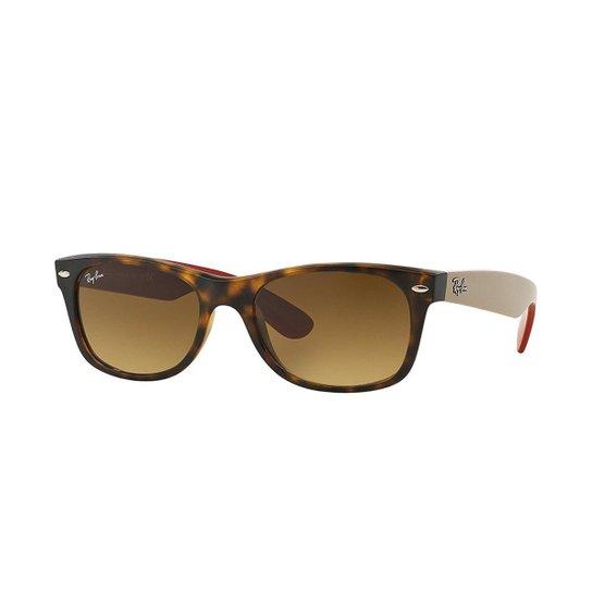 ea7b56590acb8 Óculos de Sol Ray-Ban New Wayfarer - Marrom - Compre Agora   Zattini