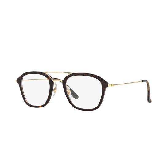7c8bb8187 Armação de Óculos Ray-Ban RB7098 Feminina - Marrom | Zattini