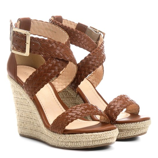 fcfe45282 Sandália Anabela Shoestock Tranças Feminina - Compre Agora